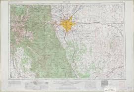 Topographical Map Of United States by Denver Topographic Map Sheet United States 1963 Full Size