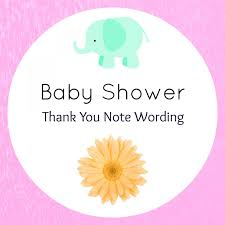what to write in a baby shower thank you card best shower