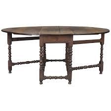Large Th Century English Oak Oval Gateleg Dining Table At Stdibs - Gateleg kitchen table
