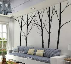 Nursery Room Tree Wall Decals Winter Decor Wall Decal Trees Children Room Vinyl Handmade Items