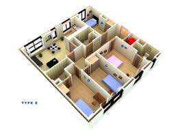 Types Of Apartment Layouts Four Bedroom Apartment Types