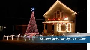 amazing outdoors lights decorations in blue