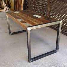 wood table with metal legs metal and wood table ideas