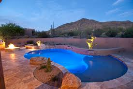 Beautiful Pool Backyards by Lovely Incorporation Of A Pool With Fire Pits And Seating Walls