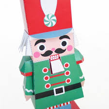 nutcracker and mouse king holiday toys printable paper craft