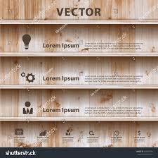 Wood Plank Shelves by Wood Shelf Modern Design Template Workflow Stock Vector 168437768