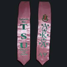 custom graduation sashes personalized embroidered satin stole with free medallion