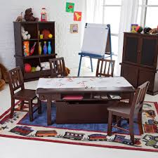Kids Activity Desk by Classic Playtime Espresso Deluxe Activity Table With Free Paper