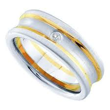 fusion wedding band 10k yellow gold 0 03ctw diamond fusion wedding ring band wedding