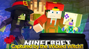 minecraft adventure captured by the halloween wicked witch