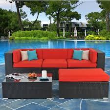 Red Patio Chair Cushions Patio Furniture Cushions Sunbrella Home Outdoor