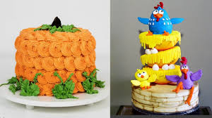 awesome birthday cakes decorating compilation thanksgiving cake