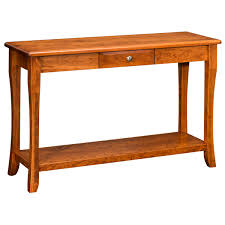 Oak Sofa Table With Drawers Amish Sofa Tables Amish Furniture Shipshewana Furniture Co