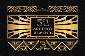 Decodesign by 37 Art Deco Design Elements Vol 1 Illustrations Creative Market