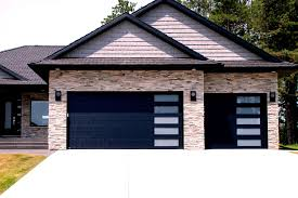 black garage doors home interior design