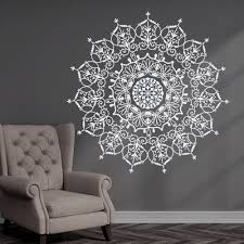 Bedroom Wall Stickers Uk Bohemian Indian Pattern Mandala Wall Decals Floral Vinyl Stickers