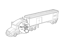 lego truck coloring page for kids printable free lego coloring