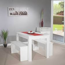 Table Ronde De Cuisine Pas Cher by Table 110 Cm 2 Bancs Blanc 2281a2121x00 Achat Vente Table