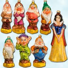 this christopher radko snow white and the seven dwarfs ornament