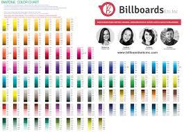 Pantone Colors by Artwork Billboards Etc Inc
