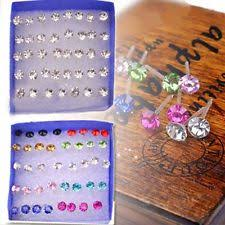 plastic stud earrings back pierced plastic stud fashion earrings ebay