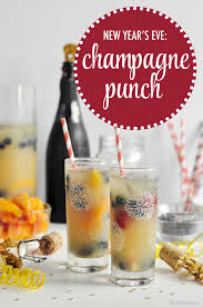 new year u0027s eve champagne punch the chic site
