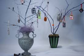 cathie filian halloween witch crafts spooky trees and ornaments