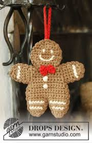gingerbread ornament free crochet pattern free crochet