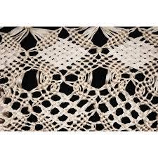 ribbon lace vintage macrame ribbon lace shawl knotted wrap