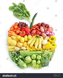various vegetables fruits apple shape stock photo 67699489