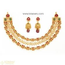 gold jewellery necklace sets images 22k gold uncut diamond necklace sets indian gold jewelry from jpg