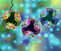 three beautiful and detailed ornaments with
