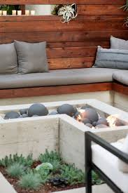 Cement Patio Table by Best 25 Concrete Fire Pits Ideas On Pinterest Modern Fire Pit