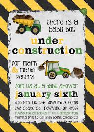 construction baby shower construction baby shower invitation boy trucks