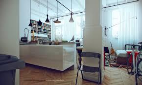Contemporary Apartment Design Contemporary Mobile Studio Apartment Based On White Color Oak