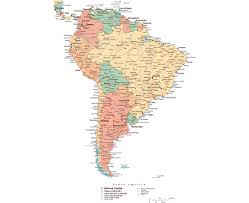 Map Of Usa With Capitals Maps Of South America And South American Countries Political