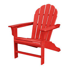 trex outdoor furniture hd sunset red patio adirondack chair txwa16sr