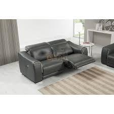 canap relax moderne canapé relaxation moderne 3 places cuir noir cobra
