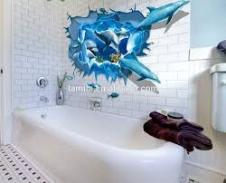dolphin home decor 3d window wall stickers underwater world dolphin quote wall decals