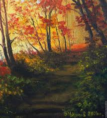 buy oil painting peisaj the path along berega author u0027s work on