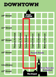 Unt Parking Map Grand Parade Cheyenne Frontier Days