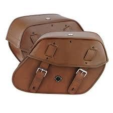 honda 750 shadow phantom viking odin brown large motorcycle saddlebags