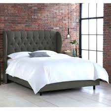 skyline furniture velvet king tufted wingback bed light gray tufted wingback king bed socielle co