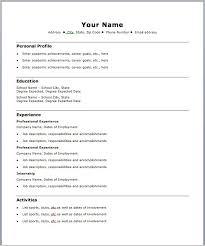 Sports Resume Template Download Easy Resume Examples Haadyaooverbayresort Com