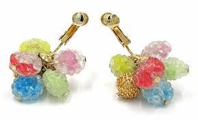 1960 s earrings vintage gumdrop beaded earrings 1960s