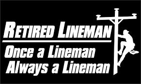 Lineman Barn Decals Retired Lineman Vinyl Decal