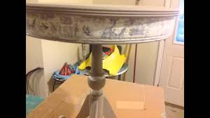 Chalk Paint Side Table Decoupage On Side Table Over Annie Sloan Chalk Paint Youtube