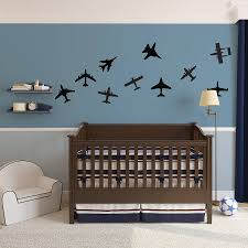 aeroplane wall stickers airplanes wall art decal pack for kids children s room