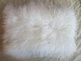 Mongolian Lamb Cushion Amazon Com Real Mongolian Tibetan Lamb Fur Pillow New Mongolian