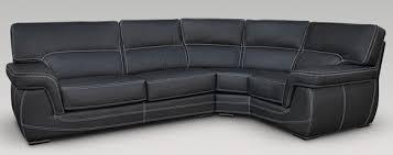 Black Leather Corner Sofa Alaska 3 Corner 1 Genuine Italian Black Leather Corner Sofa